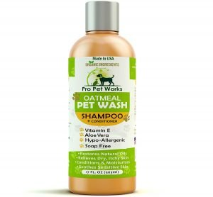 Best Oatmeal pet wash shampoo for pit bulls
