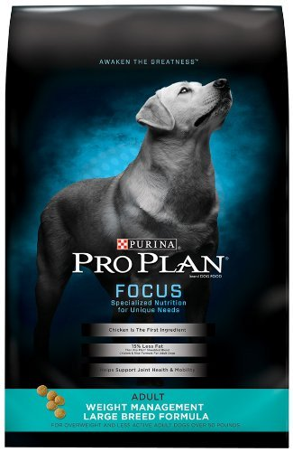 Best Pro Plan Focus weight management dog food for large breeds