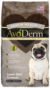 best AvoDerm dog food for small senior dogs