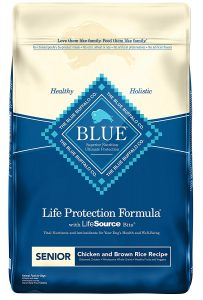 top rated Blue Buffalo dog food for small senior dogs