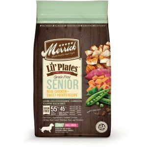 best Merrick dog food for small senior dogs