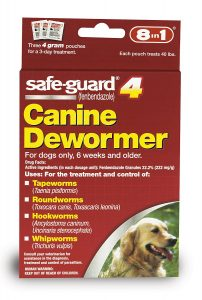 best 8in1 Safe-Guard dog wormer for all worms