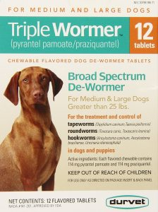 best Durvet dog wormer for all worms