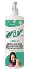 best Pet Organics no scratch spray for cats