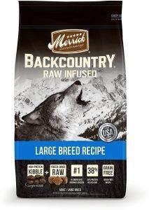 link to best Merrick dog food for german shepherds
