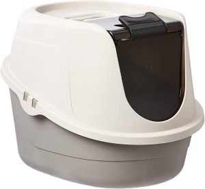 best amazonbasics litter box for odor control