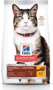 best hills science cat food for hairballs