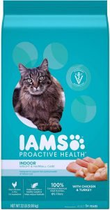 best iams cat food for hairballs and vomiting